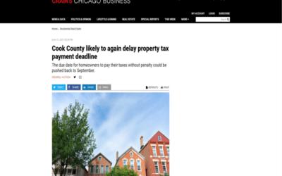 Cook County likely to again delay property tax payment deadline